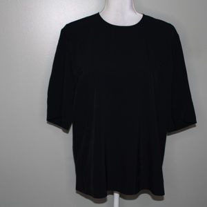 everlane women black zipper Triacetate shirt SZ 6